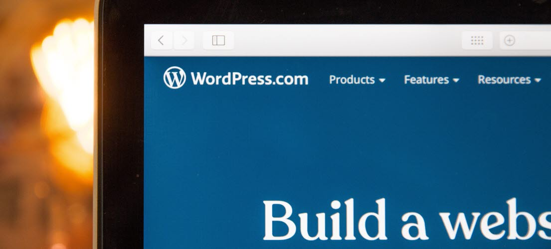 WordPress shown on computer screen